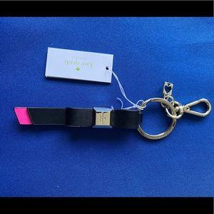 Kate Spade Black/ Pink Key Fob